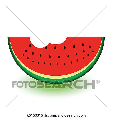 450x470 Clipart of watermelon a bit vector k5150315