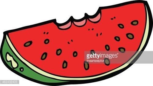 500x282 Cartoon Watermelon Slice Premium Clipart