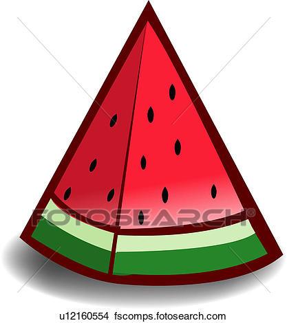 417x470 Clipart Of Fruit, Plants, Plant, Food, Watermelon U12160554