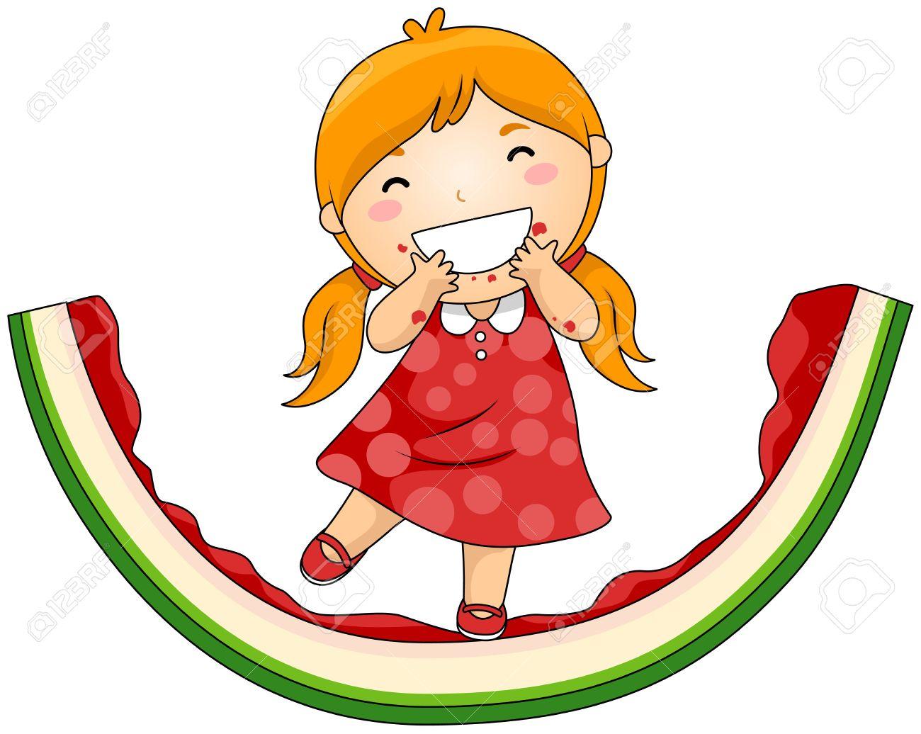 1300x1036 Eating Watermelon Clip Art Cliparts