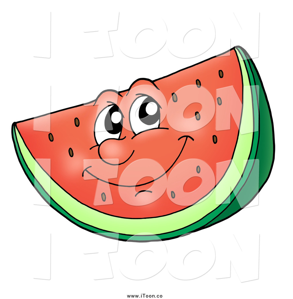 1024x1044 Royalty Free Cartoon Of A Happy Watermelon By Visekart