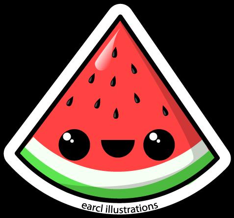 477x444 Watermelon Cartoon Clipart