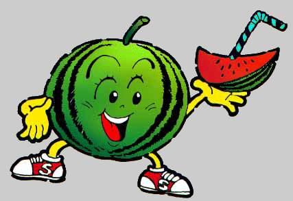 427x293 Watermelon Cartoon Clipart