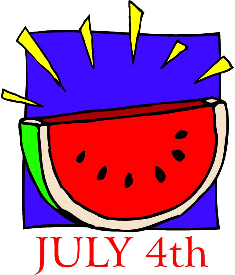 768x898 Watermelon July 4th Independence Clipart