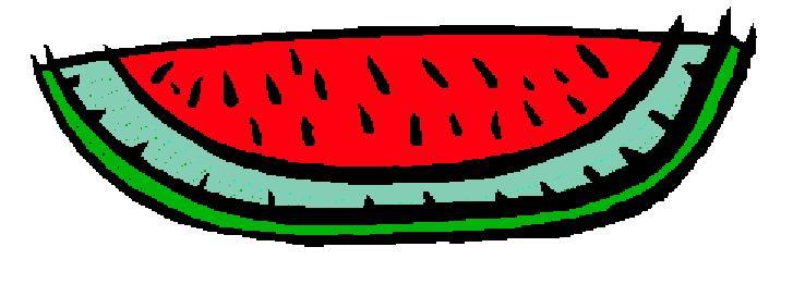 727x261 Watermelon Clipart August
