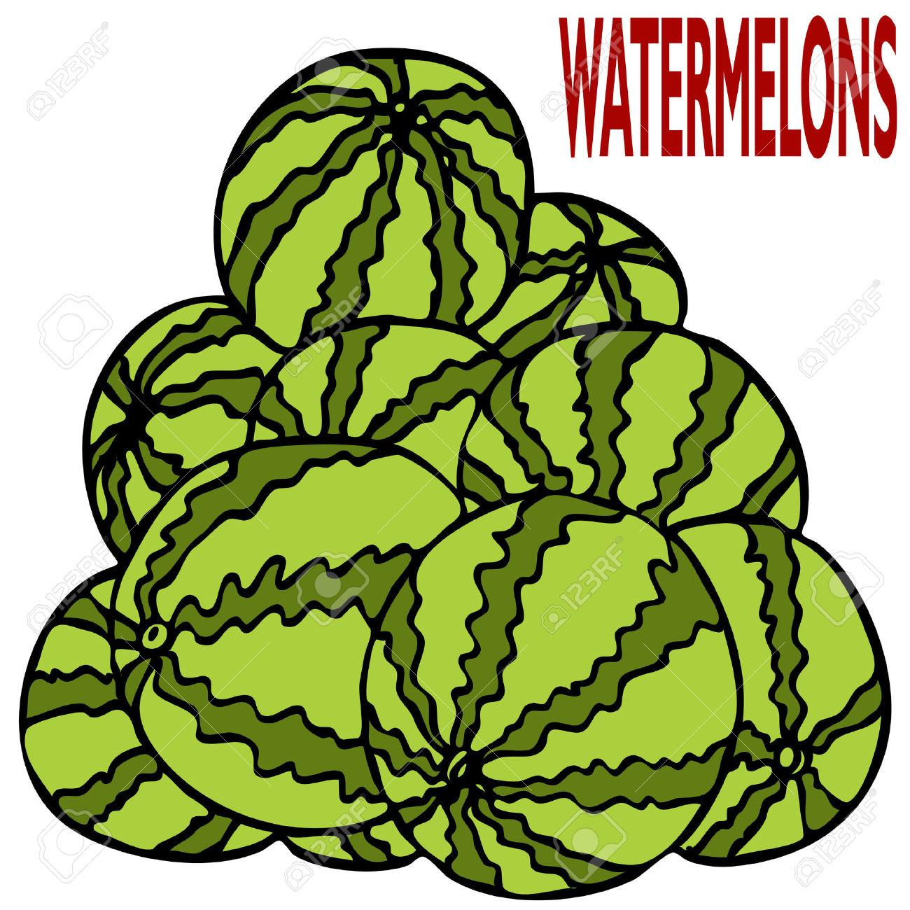 1300x1300 Watermelon Clipart Leaf