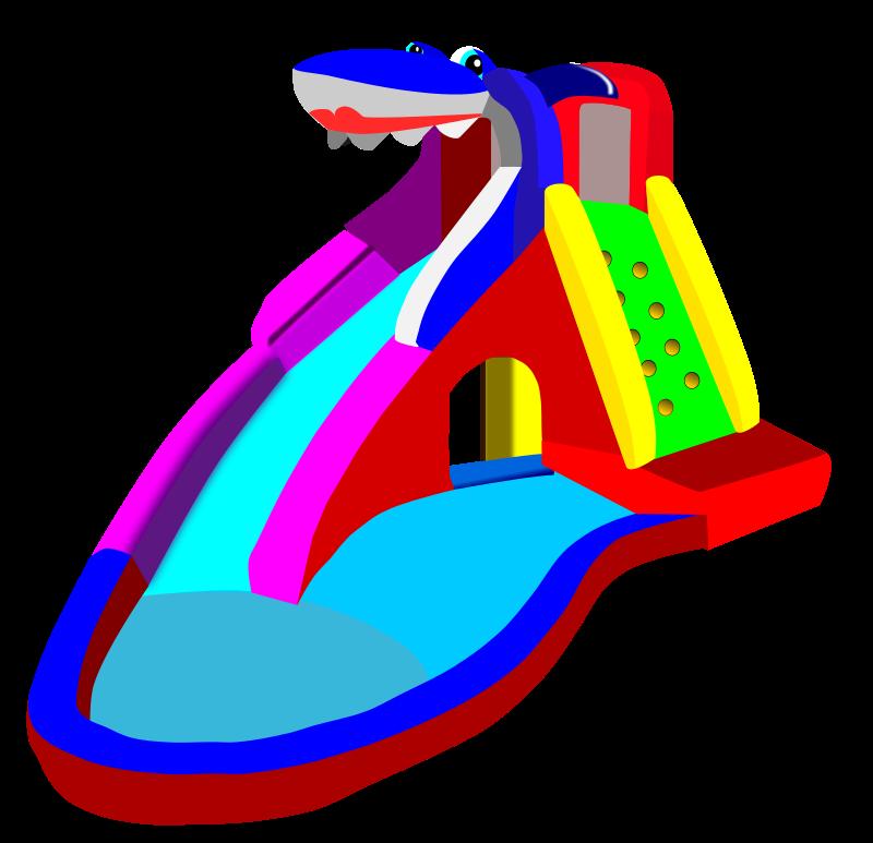 800x773 Free Clipart Bouncy Castle