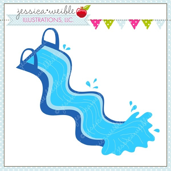 600x600 Inflatable Water Slide Clipart