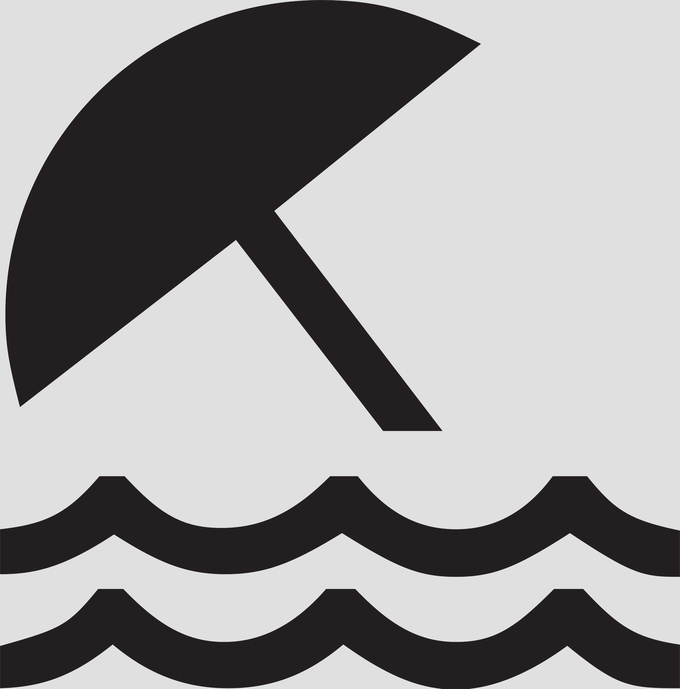 2370x2400 Beach Waves Black White Clipart, Free Beach Waves Black