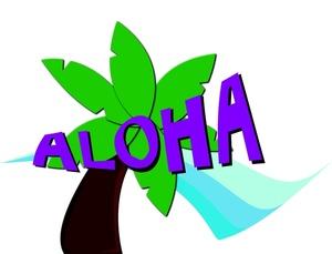 300x229 Aloha Clipart Image