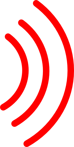300x589 Radio Waves Clip Art
