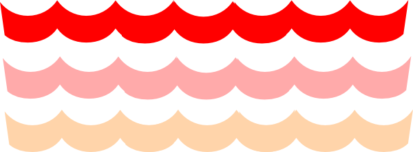 600x222 Wave Clipart Pink