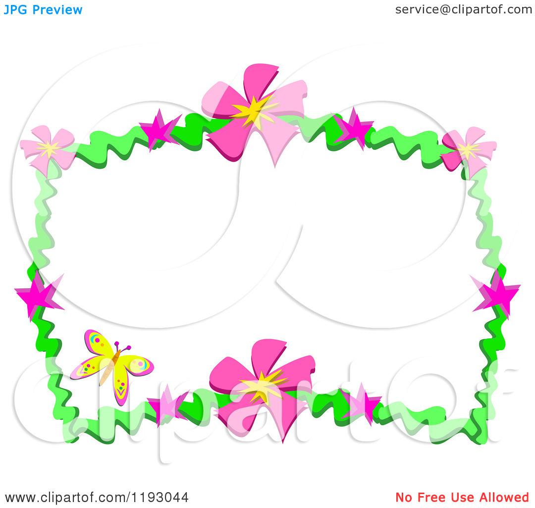 1080x1024 Pink Flower Border Clip Art Clipart Panda