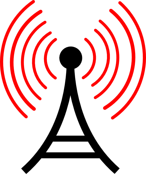 498x598 Radio Antenna Red Waves Png, Svg Clip Art For Web