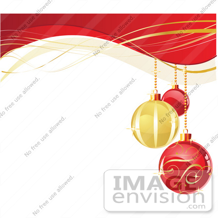 450x450 Stock Illustration Of A Xmas Background With Three Red And Golden