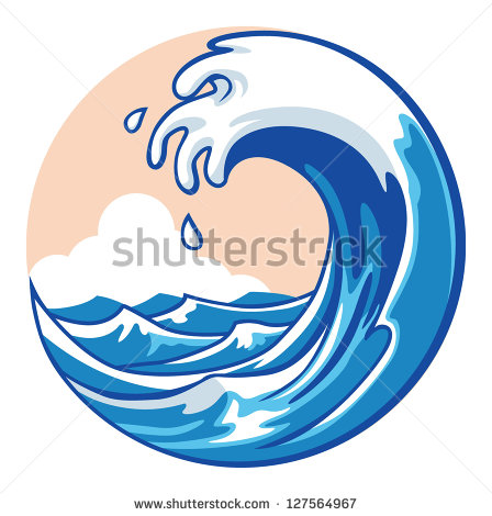 448x470 Ocean Waves Clipart Free