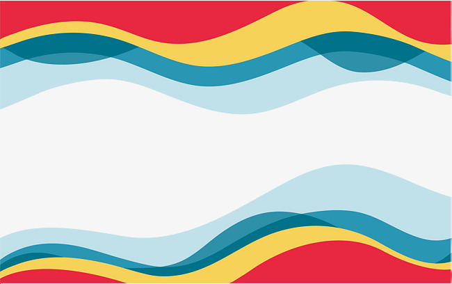 650x408 Colorful Wave Border, Vector Png, Color Stripes, Ripple Png