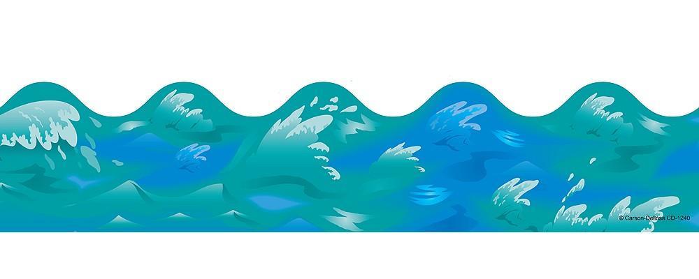 1000x400 Ocean Waves Border Clipart Clipart Panda