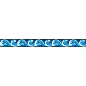 300x300 Ocean Waves Straight Border Trim Borders Decoration