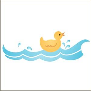 300x300 Rubber Ducky Border Stencil From Stencils