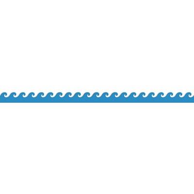 400x400 Wave Clipart Border Design