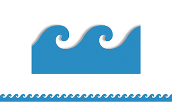 350x210 Blue Waves Mighty Brights Border