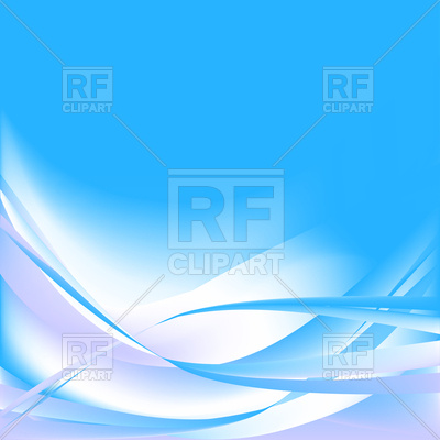 400x400 Colorful Blue And White Abstract Waves Royalty Free Vector Clip