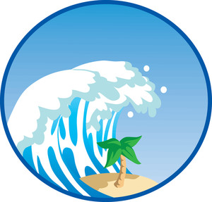 300x287 Monster Waves Clipart Tsunami