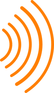 174x298 Radio Waves Orange Clip Art