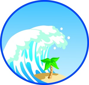 300x287 The Waves Crashing On Beach Clip Art Cliparts