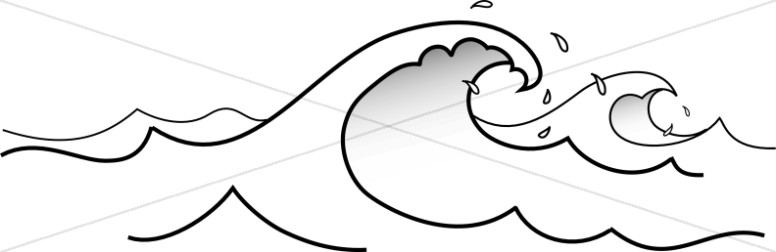 776x252 Waves Clipart Black And White