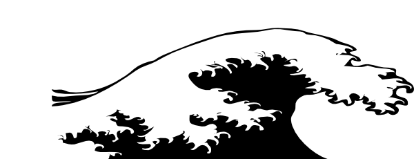 600x230 Waves Black And White Water Wave Clipart Collection