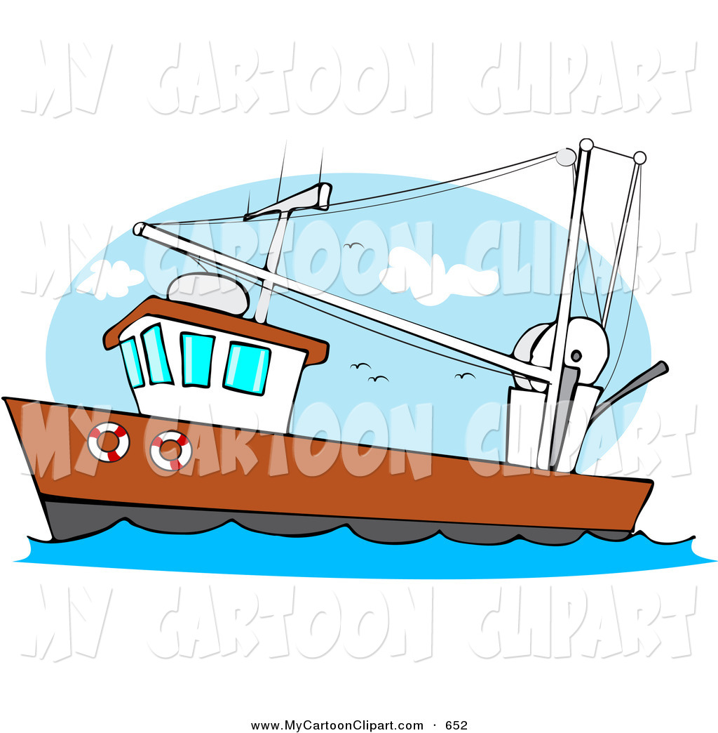 1024x1044 Clip Art Of A Trawler Fishing Boat