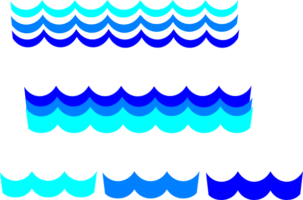 600x396 Wave Pattern Many Options Clip Art