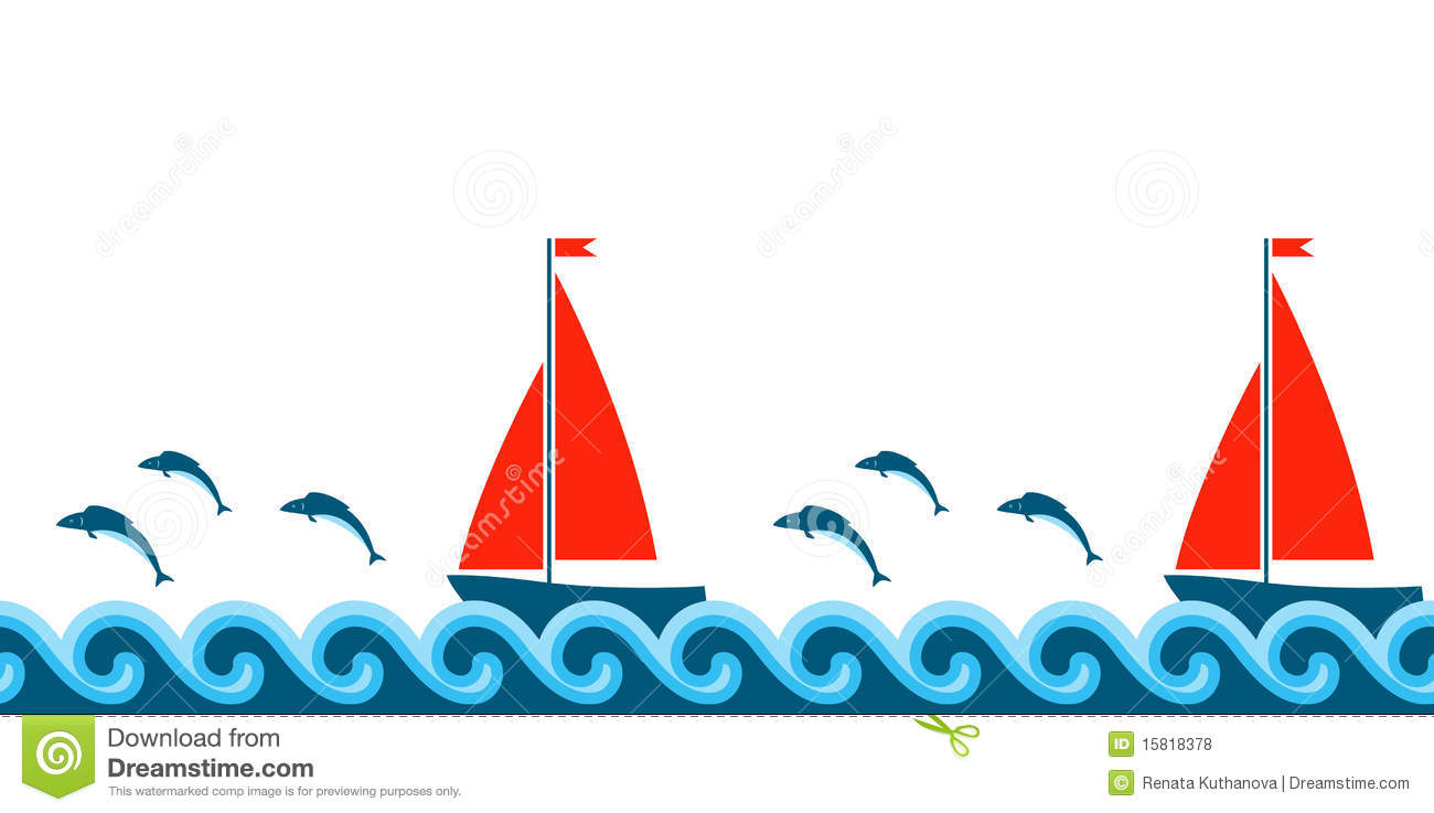 1300x737 Wave Clipart Sailboat