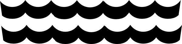 600x146 Waves Black And White Waves Clip Art Black And White