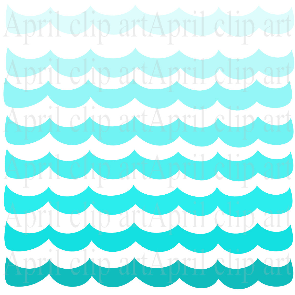 1152x1152 Monster Waves Clipart Border