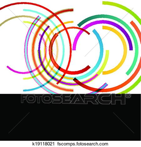 450x470 Clipart Of Color Circle Round Ellipse Lines Waves Colorful Mosaic