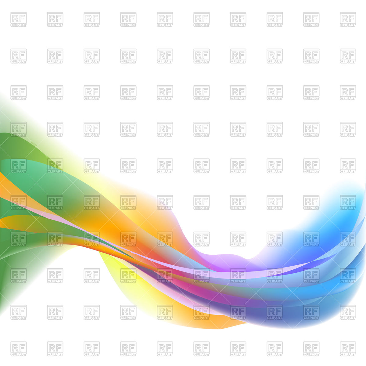 1200x1200 Colorful Waves Abstract On White Background Royalty Free Vector
