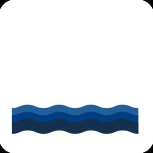 300x300 Three Blue Waves Clip Art