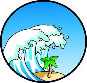 300x287 Beach Waves Clipart