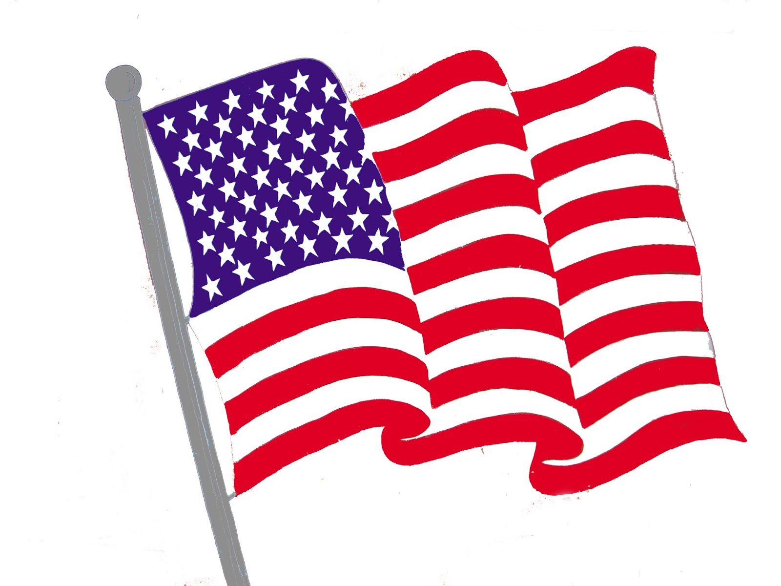 1600x1200 American Flag Clipart Free Graphics United States Flag Ima