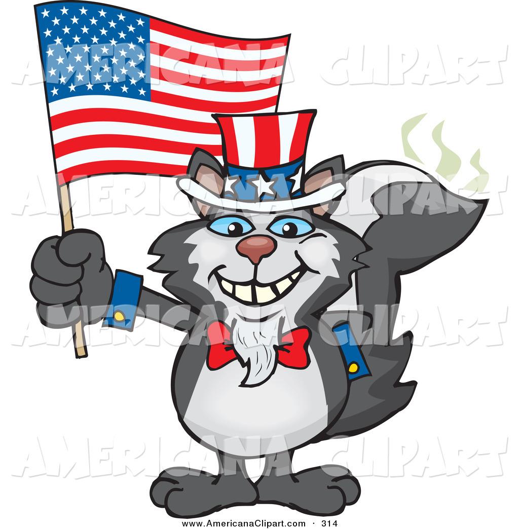 1024x1044 Americana Vector Cartoon Clip Art Of A Happy Black Patriotic Uncle