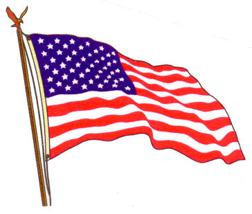 364x309 Clipart Waving American Flag