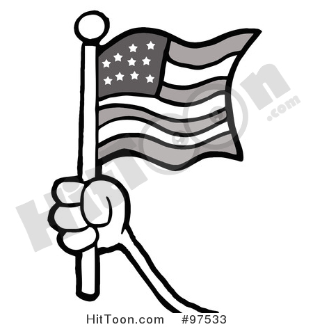 Us Flag Clipart Black All About Clipart