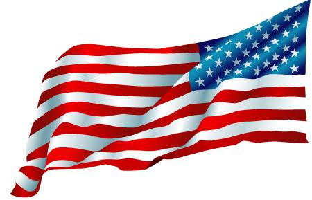 450x289 Waving American Flag Drawing