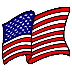 250x250 Waving American Flag No Gradients Clip Art Free Borders And Clip Art