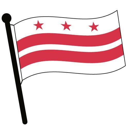 500x500 Waving Flag Clip Art