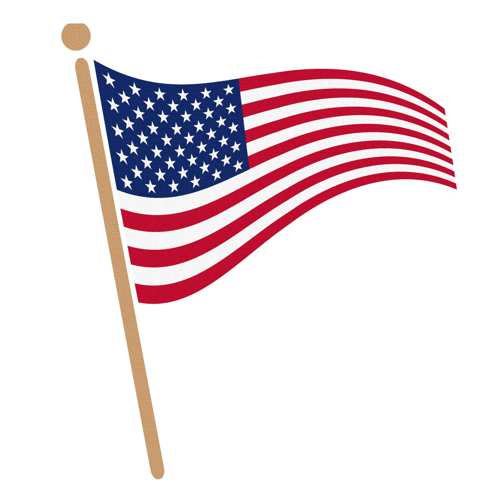 1600x1600 Waving American Flag Clip Art Clipart Bay