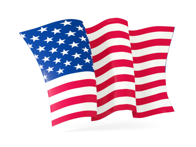 640x480 Wavy American Flag Antique Clipart